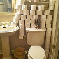 화장실 예비용 휴지