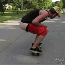 Skateboarder-poops