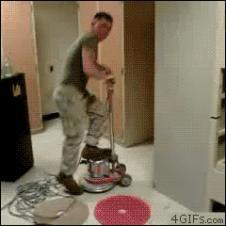 Floor-buffer-spin-ride